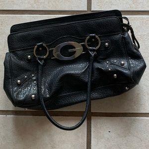 EUC Guess black leather pocketbook medium size